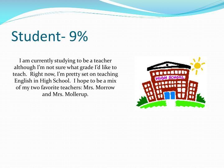 Student- 9%