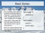 basic syntax