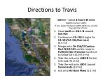 directions to travis