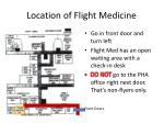 location of flight medicine