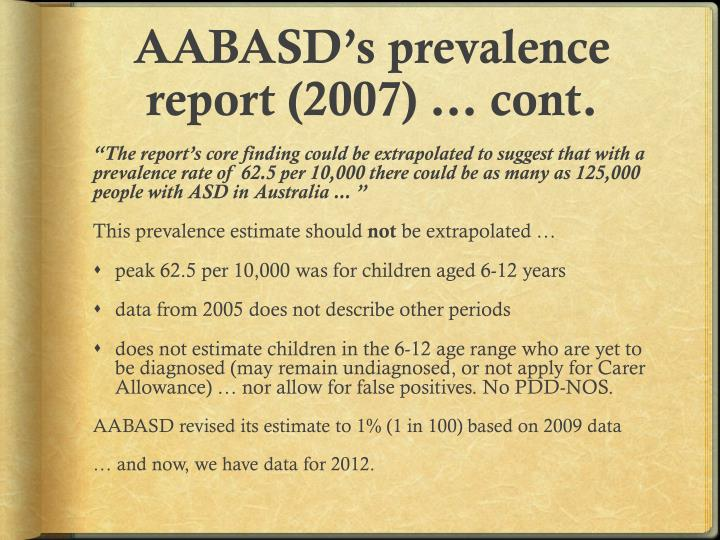 AABASD's prevalence report (2007