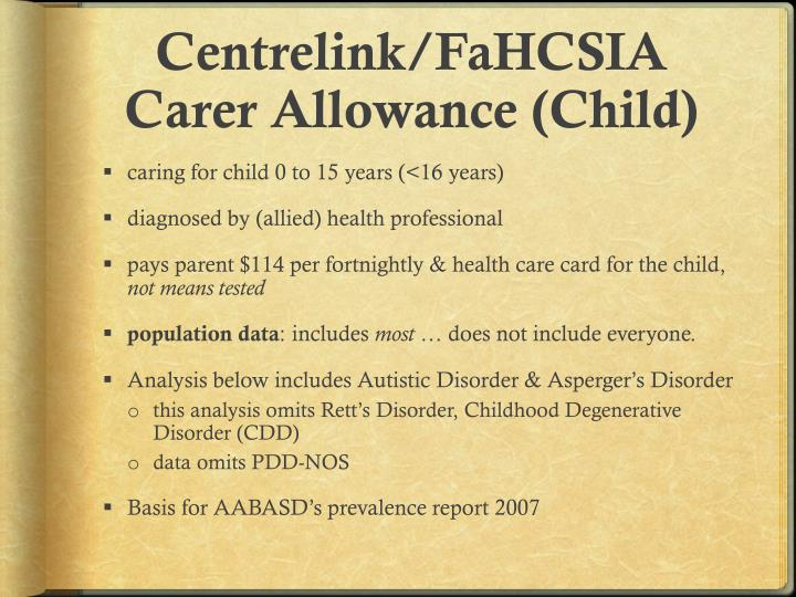Centrelink/FaHCSIA