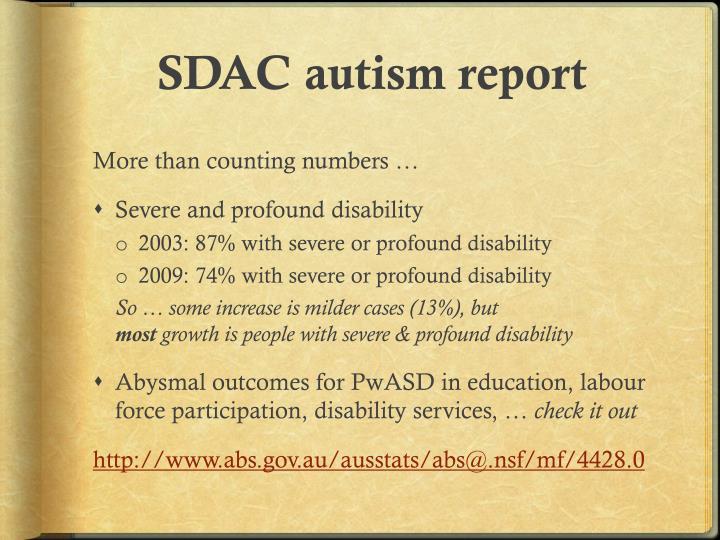 SDAC autism report