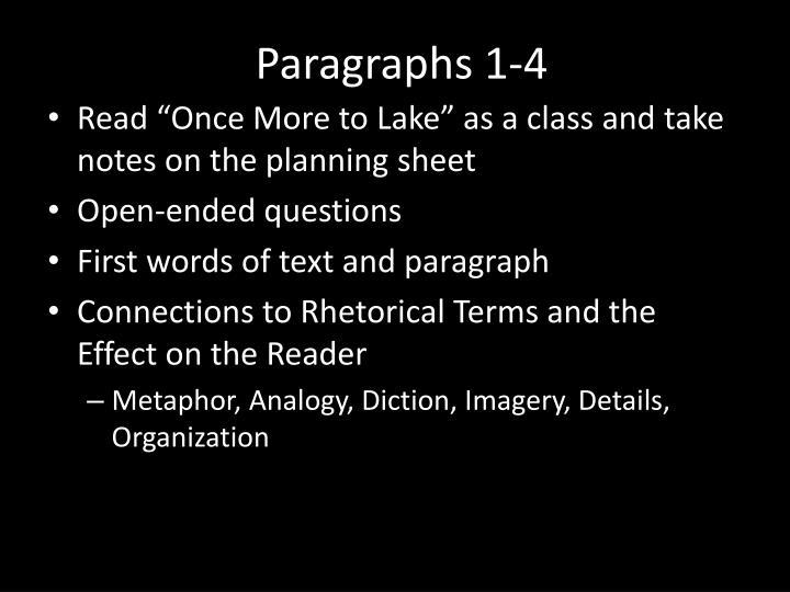 Paragraphs 1-4