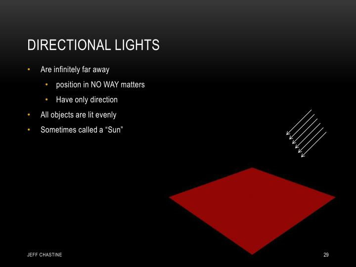 Directional Lights