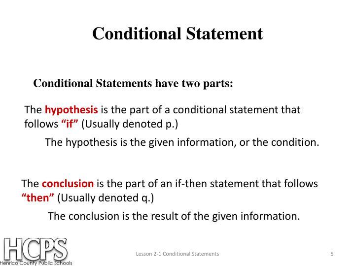 Conditional