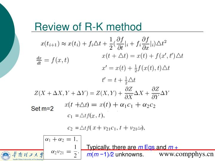 Review of r k method