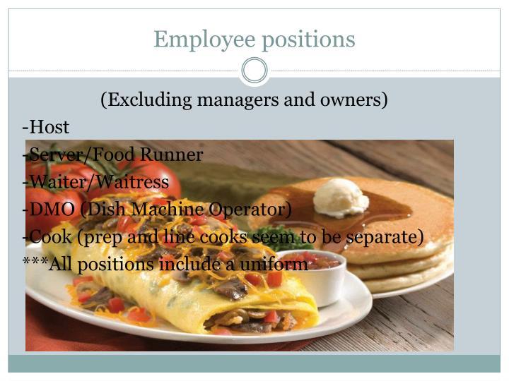 Employee positions