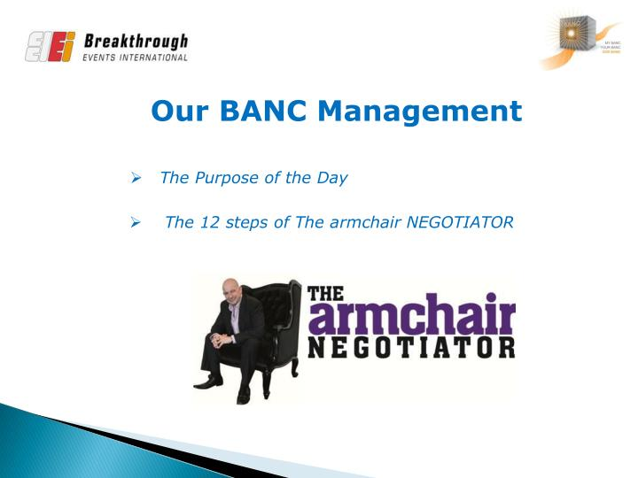 Our BANC Management