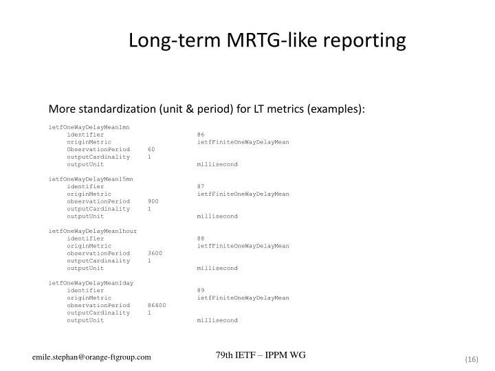 Long-term MRTG-like reporting