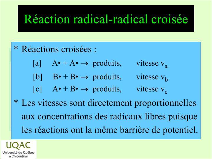 Réaction radical-radical