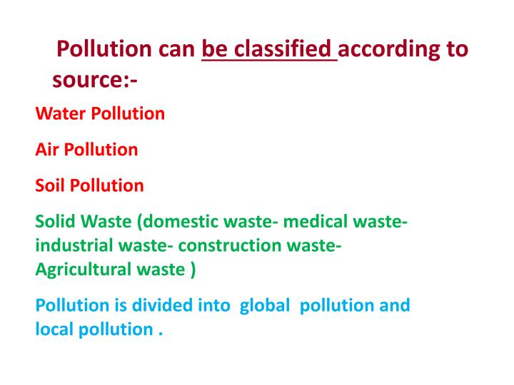 Pollution can