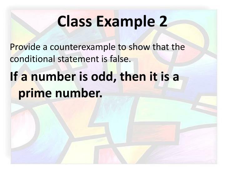 Class Example 2