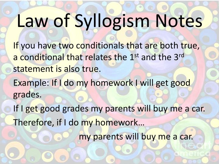 Law of Syllogism Notes