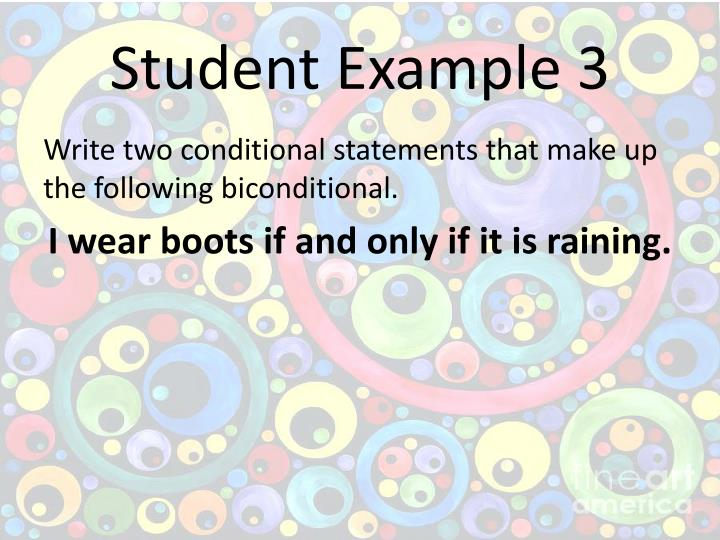 Student Example 3