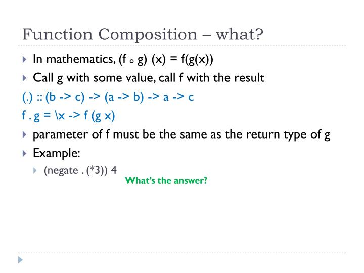Function Composition – what?