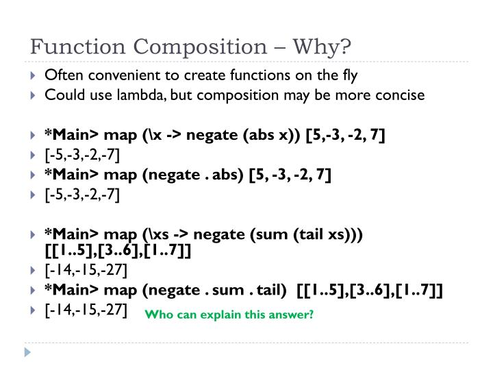 Function Composition – Why?