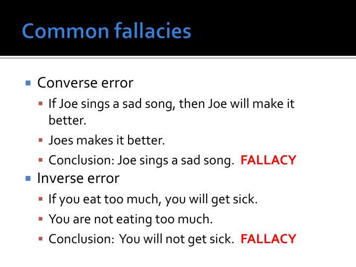 Common fallacies