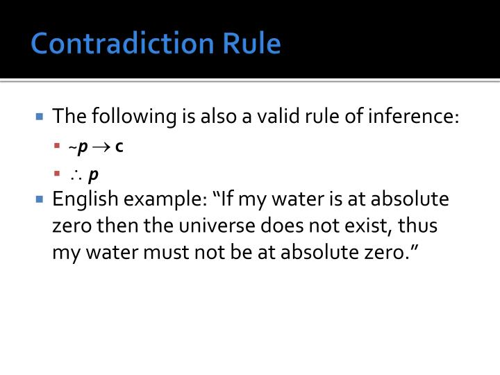 Contradiction Rule