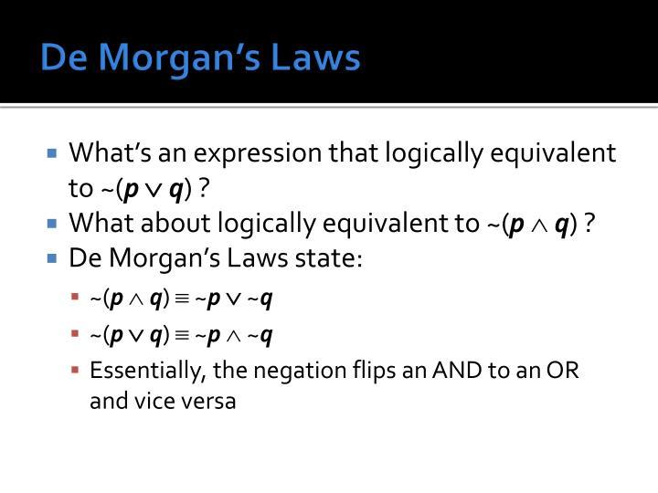 De Morgan's Laws