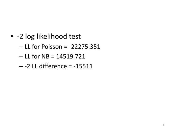 -2 log likelihood test