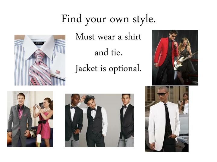 Find your own style.