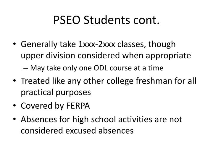 PSEO Students cont.
