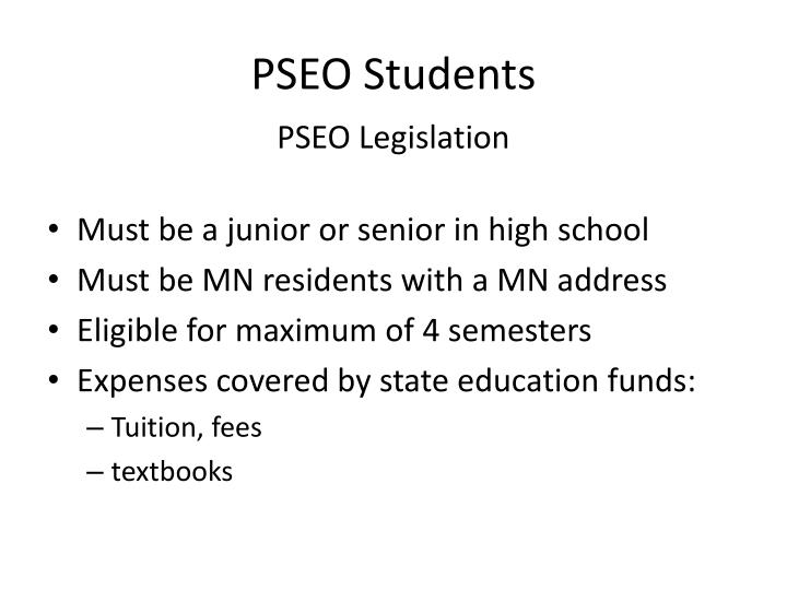 PSEO Students