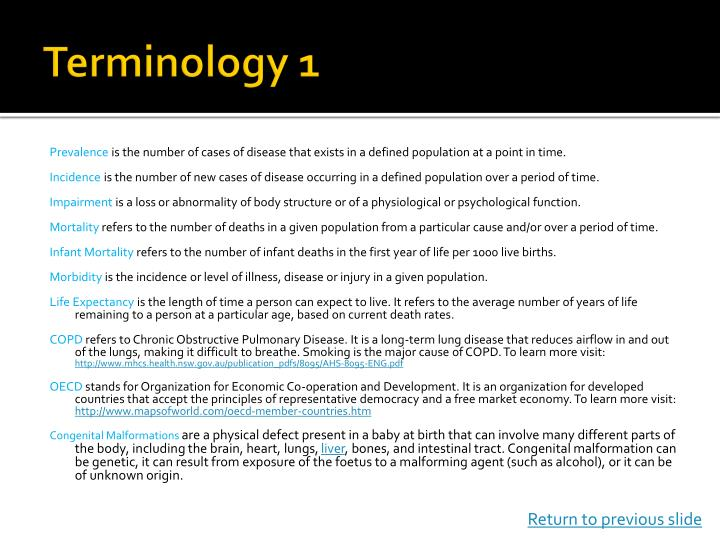 Terminology 1