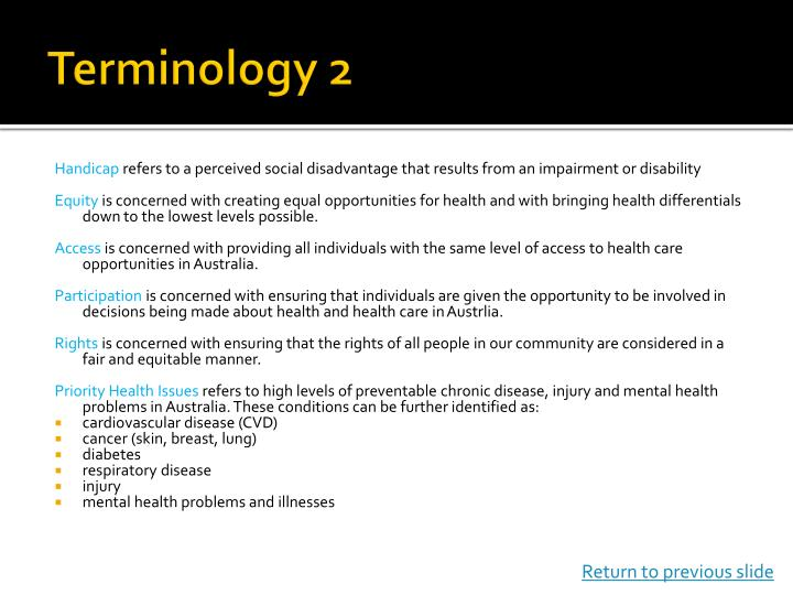 Terminology 2