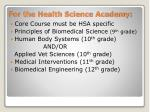 for the health science academy