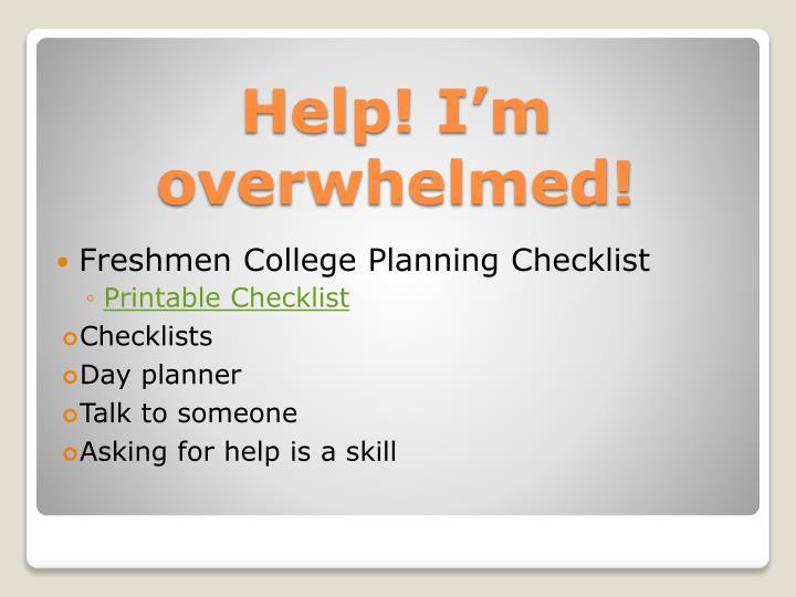 Freshmen College Planning Checklist