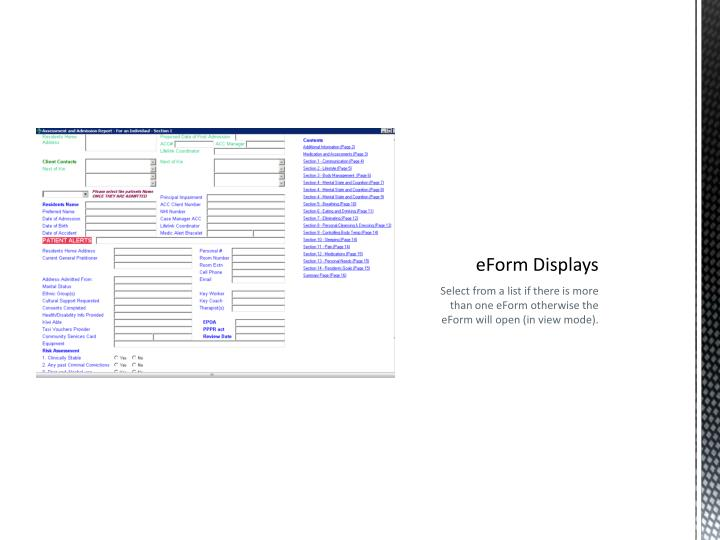eForm Displays