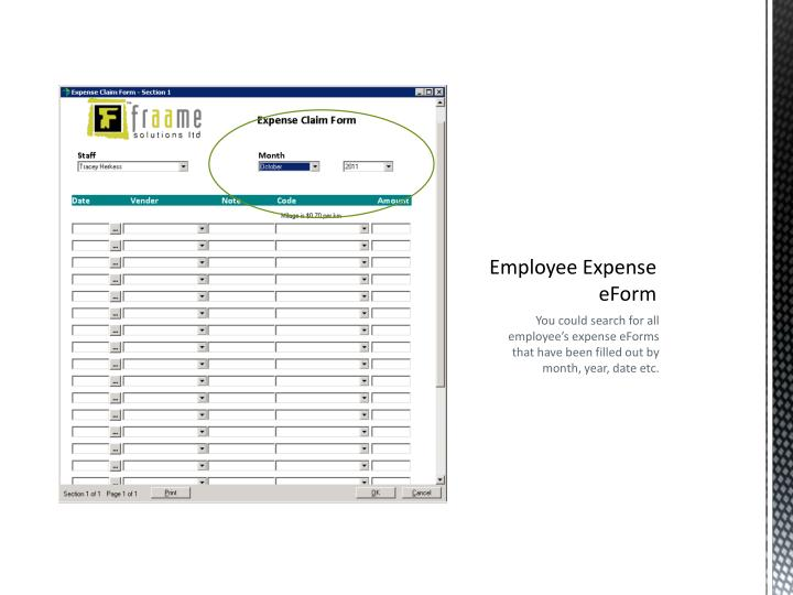 Employee Expense eForm