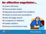 an effective negotiator