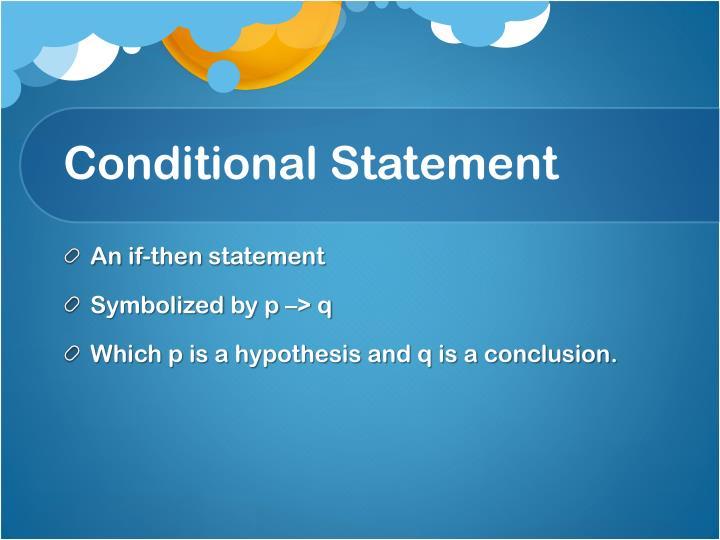 Conditional Statement
