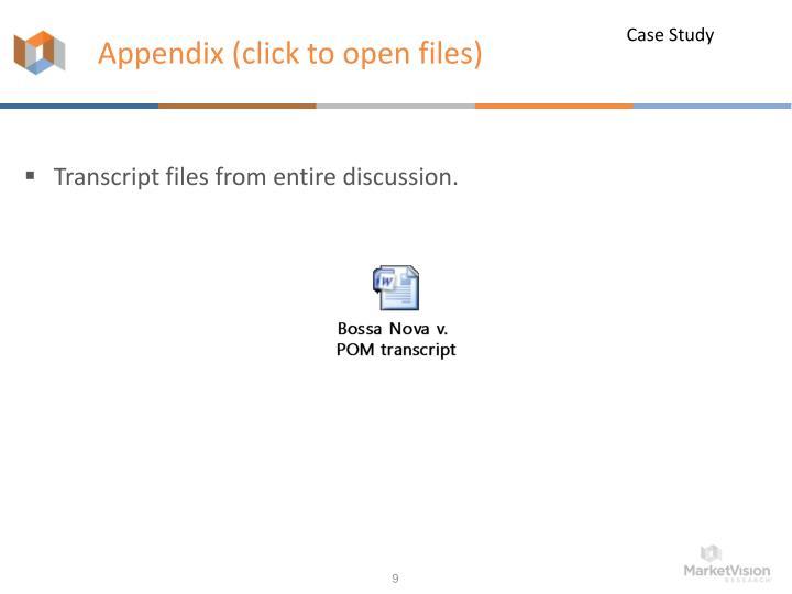 Appendix (click to open files)