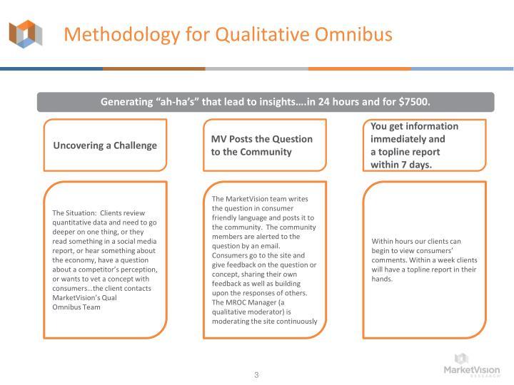 Methodology for Qualitative Omnibus