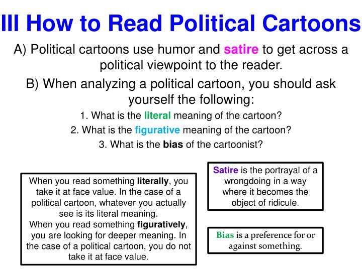 III How to Read Political Cartoons