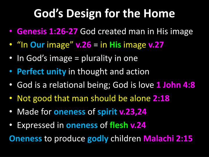 God's Design for the Home