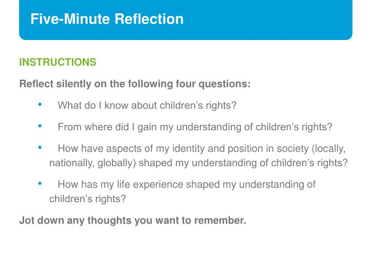 Five-Minute Reflection