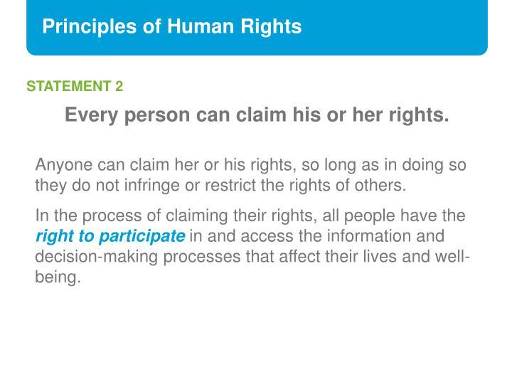 Principles of Human Rights