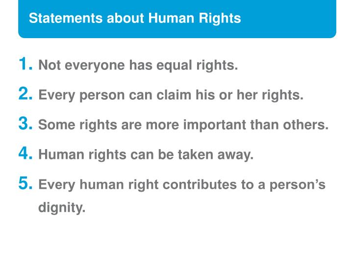 Statements about Human Rights