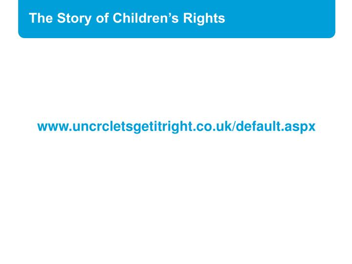 The Story of Children's Rights
