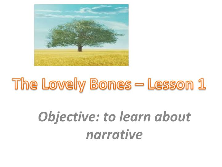 Objective to learn about narrative