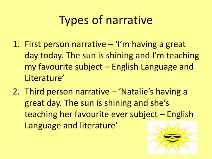 Types of narrative