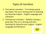 types of narrative