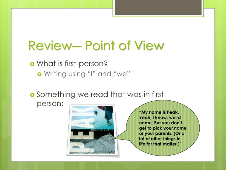 Review― Point of View
