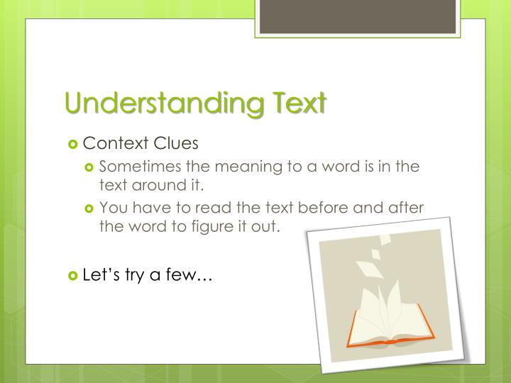 Understanding Text