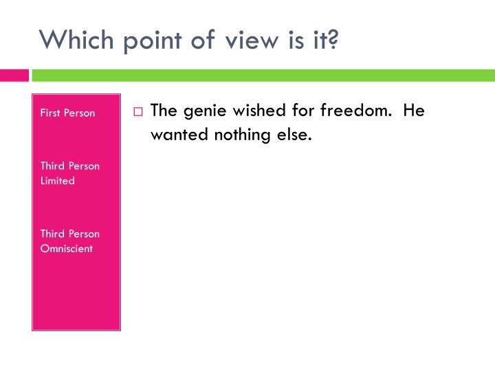 Which point of view is it?
